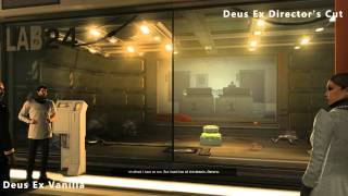 Deus Ex Human Revolution VS Director's Cut - Graphic comparison