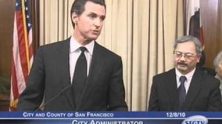 mayor newsom swears in city administrator ed lee