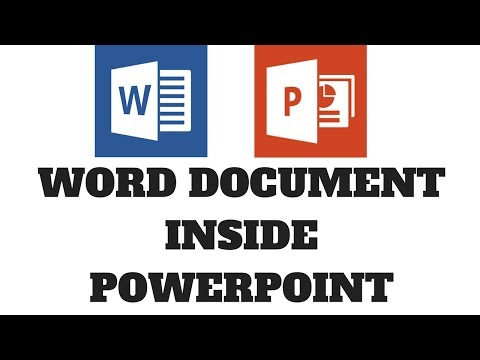 Insert Word Page Inside PowerPoint