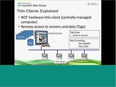 Thin Clients For InduSoft Web Studio