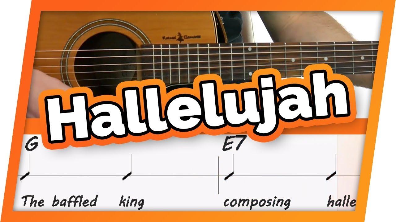 Hallelujah Jeff Buckley Play Along Guitar Karaoke Easy Chords