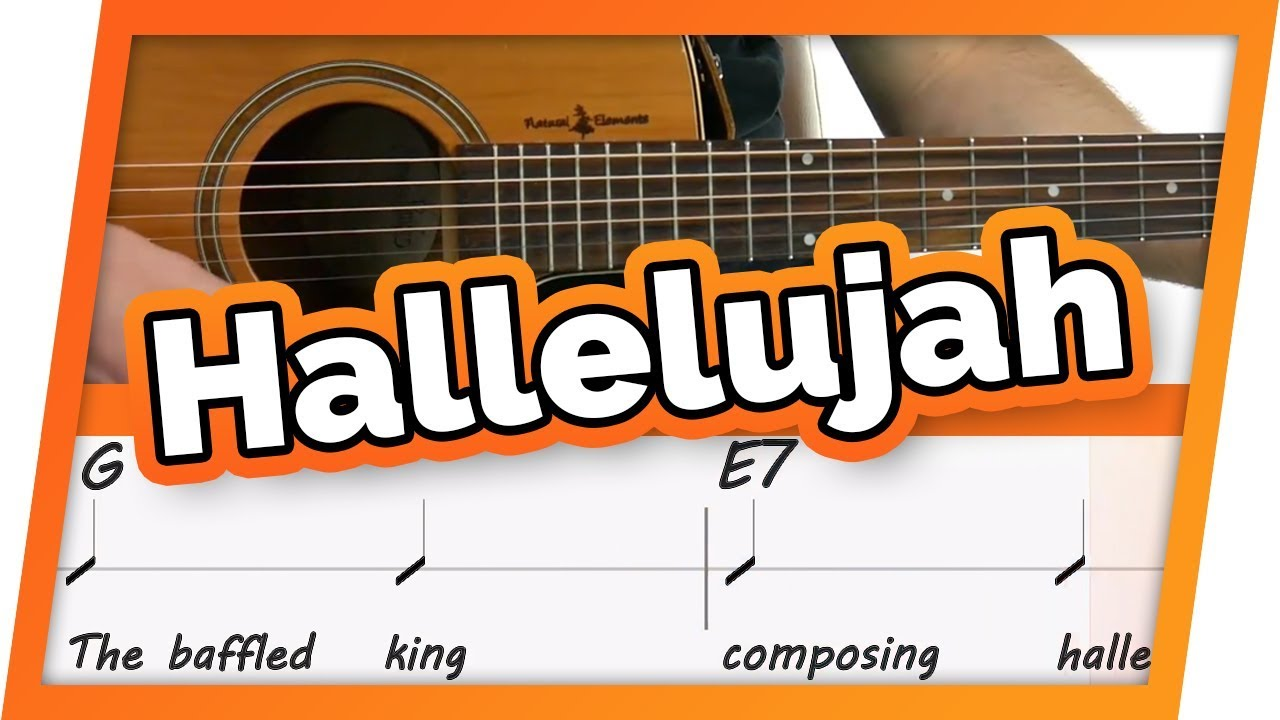 Hallelujah Guitar Tutorial Easy Chords Play Along Youtube