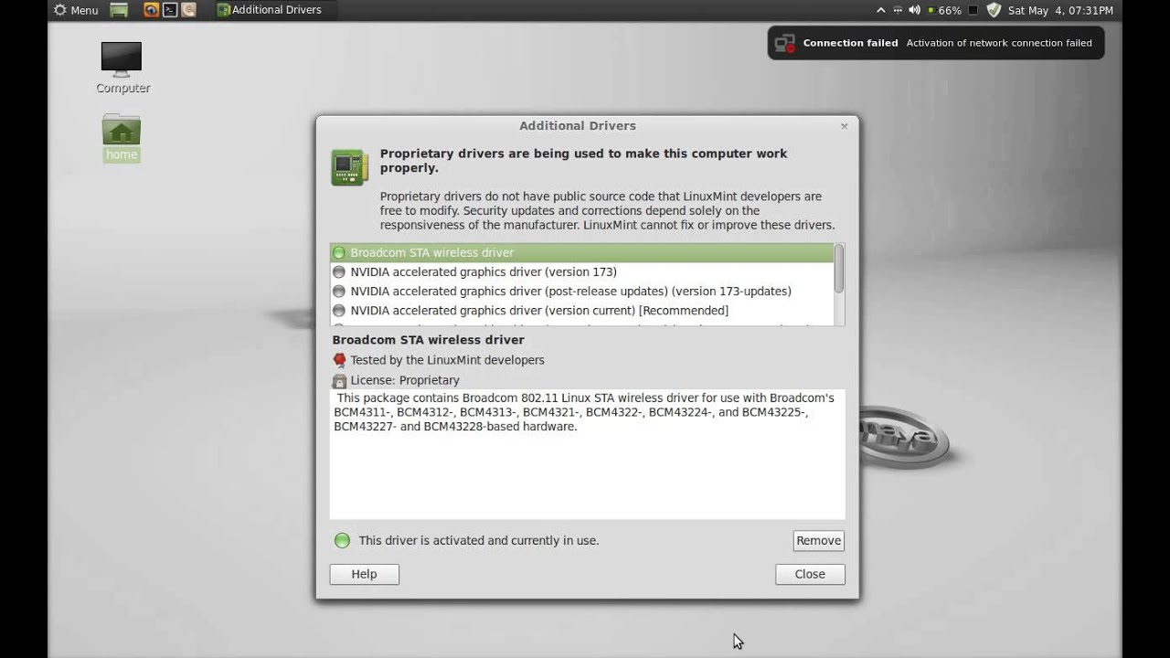 LINUX MINT BROADCOM BCM4312 DRIVER FOR WINDOWS 7