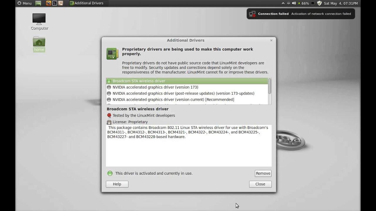 linux mint intel wireless driver