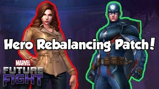 Hero Rebalancing Patch! Captain America! Black Widow! - Marvel Future Fight