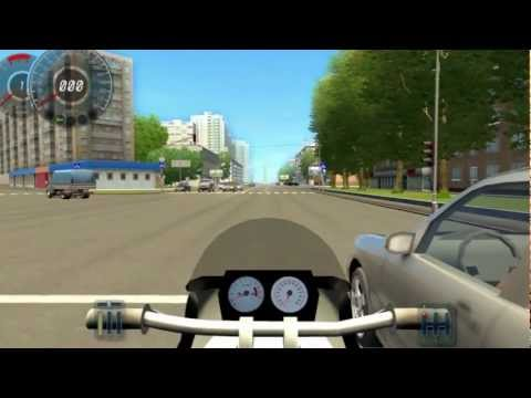 Видео Симулятор вождения мотоцикла играть онлайн