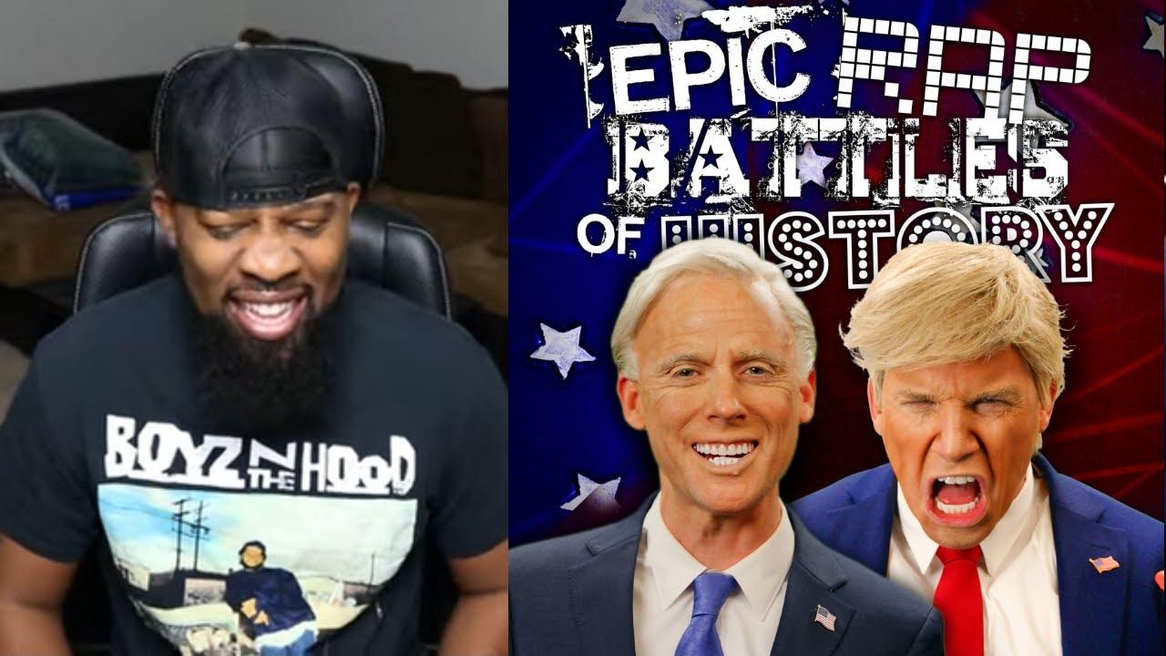 Donald Trump vs Joe Biden. Epic Rap Battles Of History - crazy REACTION