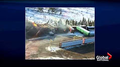 Train carrying crude derails in N.B