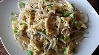 How To Cook Vietnamese Beansprouts With Egg Stir Fry ( Gia Xao Voi Trung )