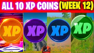 All XP COINS LOCATIONS IN FORTNITE SEASON 5 Chapter 2 (WEEK 12)