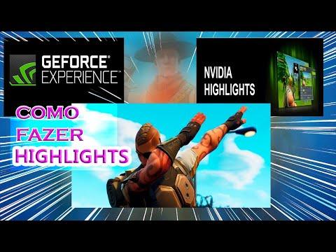 COMO GRAVAR GAMEPLAYS E HIGHLIGHTS DO FORTNITE NA NVIDIA EXPERIENCE!