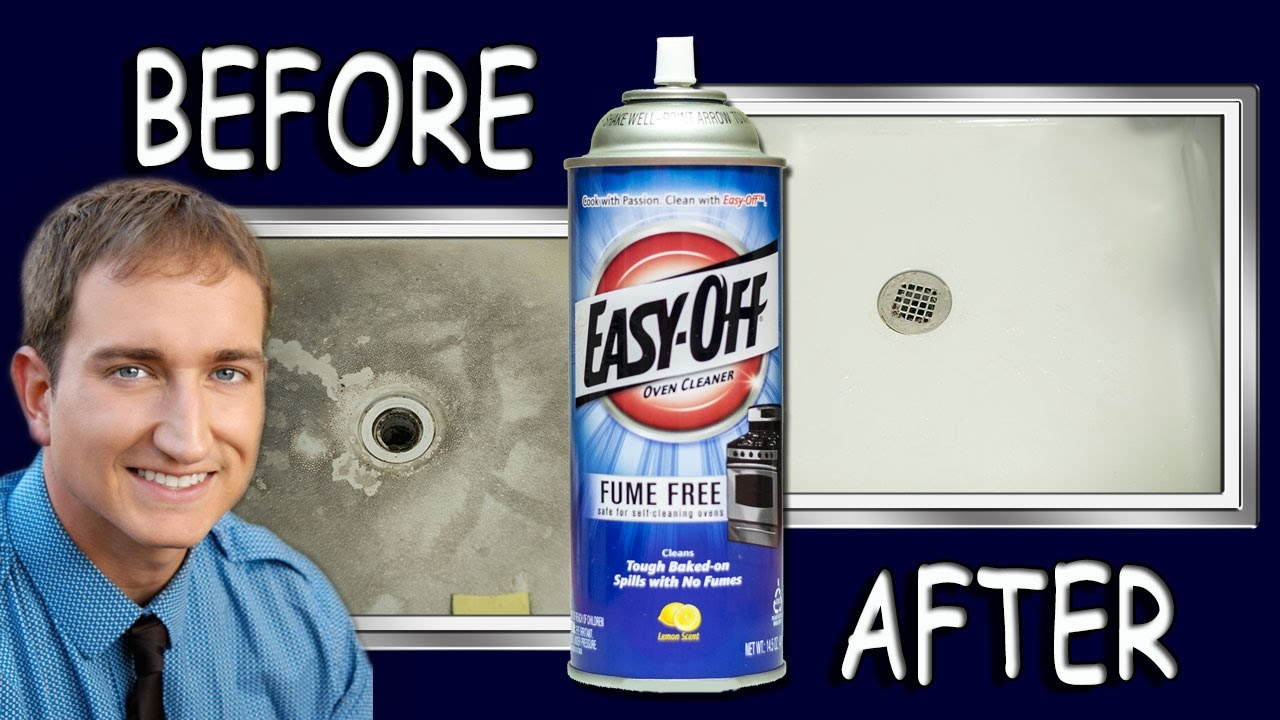 Amazing How To Make A Shower Floor White Clean Again With Oven Cleaner   YouTube