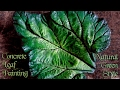 Concrete Leaf Painting | Natural Green Style