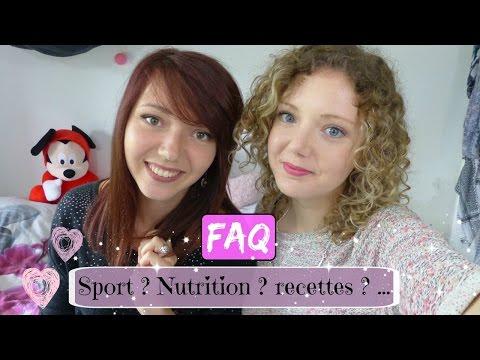 FAQ n°2 : Sport ? Nutrition? Recettes ? ...
