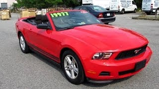 2011 ford mustang v6 convertible walkaround start up tour and overview