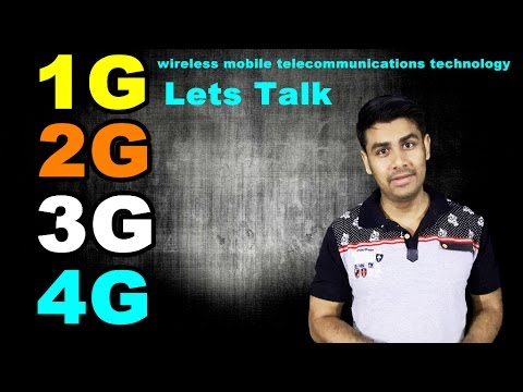 1G 2G 3G 4G | Lets talk about wireless mobile telecommunications technology (In Hindi)