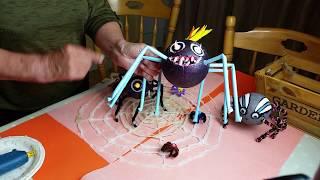 DIY Halloween Spiders Web