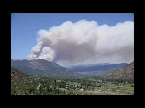 416 Fire Timelapse - Durango, CO - June 1, 2018