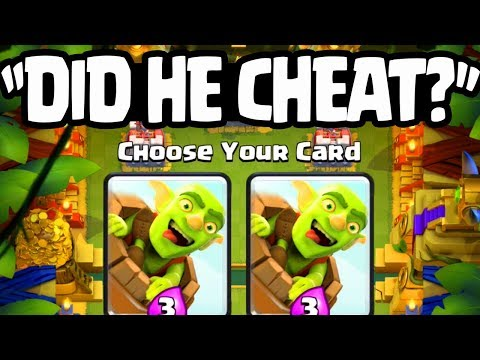"""Did He Cheat?"" Double Goblin Barrel 6-0 WIN in Clash Royale Challenge!"