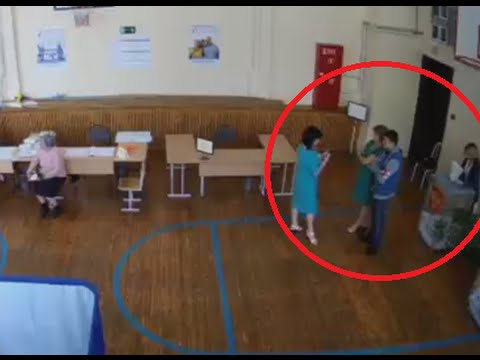 Stuffing the box! Russian parliament election fraud caught on CCTV
