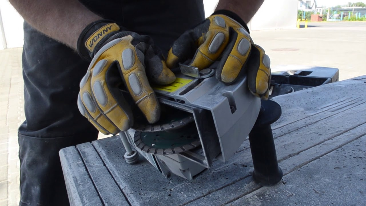 Unikalne Bruzdownica do betonu, do kabli. Zobacz działanie! - YouTube RO72