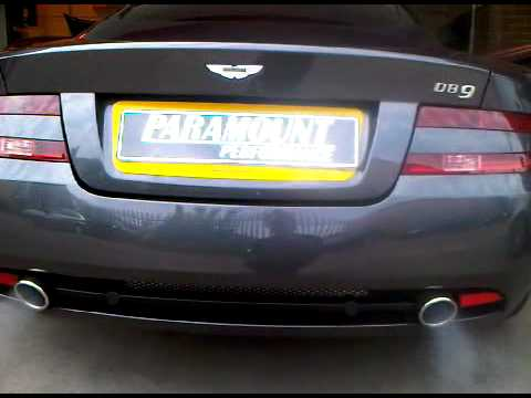 Aston Martin Db9 Exhaust System And Db9 Tuning By Paramount Youtube