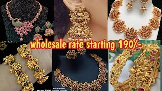 Latest 1 gram gold jewellery collection in wholesale rate