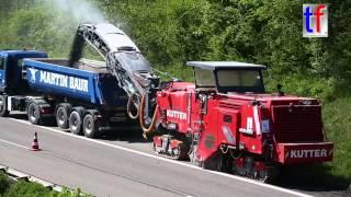 2x Wirtgen W 250i & Dump Truck Fleet / B 14 Sanierung Waiblingen - Korb, Germany,  24.04.2015.