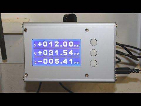 DIY 3 axis digital caliper readout unit (DRO)