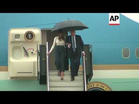 President Trump, First Lady Land in New Jersey