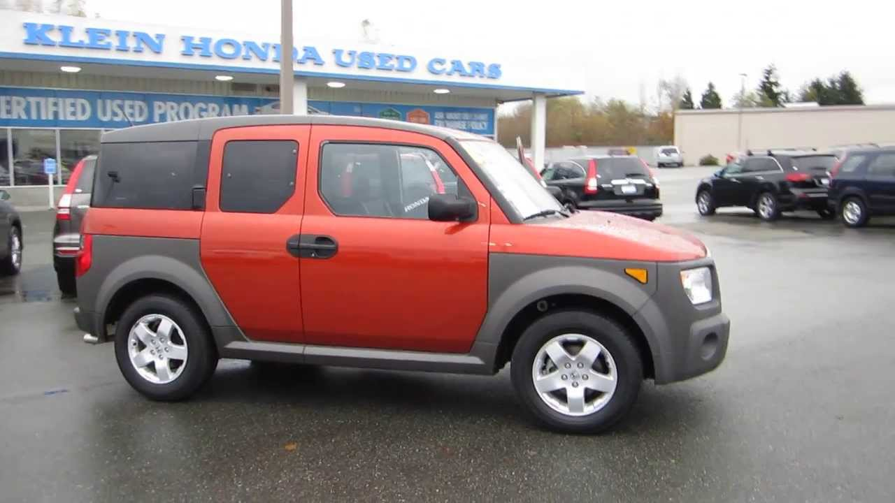 2005 honda element sunset orange pearl stock 29869a