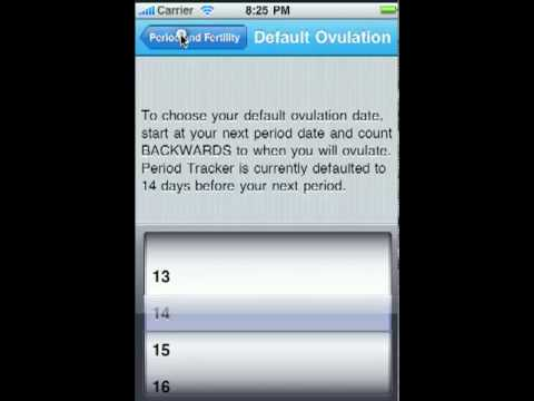 Period Tracker Deluxe for the iPhone