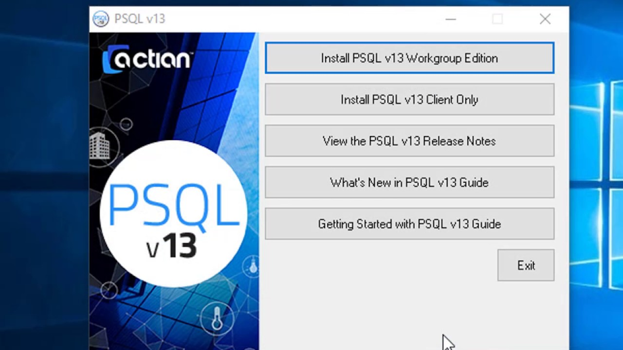 I Need Actian PSQL v13 | Goldstar Software