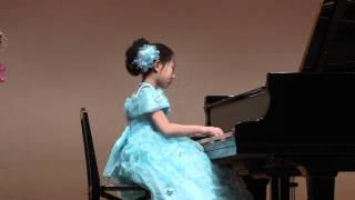 幻想即興曲 ショパン 8才 Chopin Fantasie Impromptu: 8 years old girl