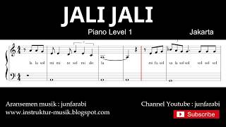 not balok jali jali - piano level 1 - lagu daerah jakarta / betawi - doremifasol / sol mi sa si