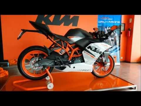KTM RC 390 First Look - Exhaust Sound - Walk Around