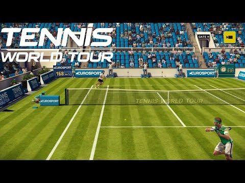 Tennis World Tour - Stefanos Tsitsipas vs Jeremy Chardy - PS4 Gameplay
