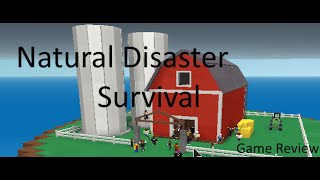 Roblox Game Review: Natural Disaster Survival