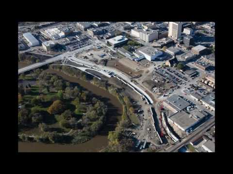 Aerial photos of Downtown Fargo