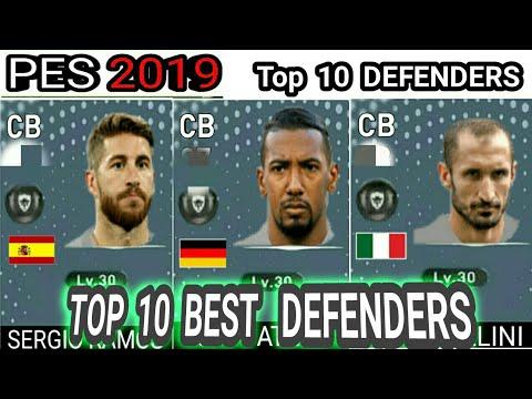 PES 2019 MOBILE   TOP 10 BEST DEFENDERS RATING PREDICTION