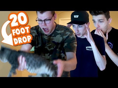 DROPPING DUDE THE CAT OFF A BALCONY PRANK *GONE WRONG*