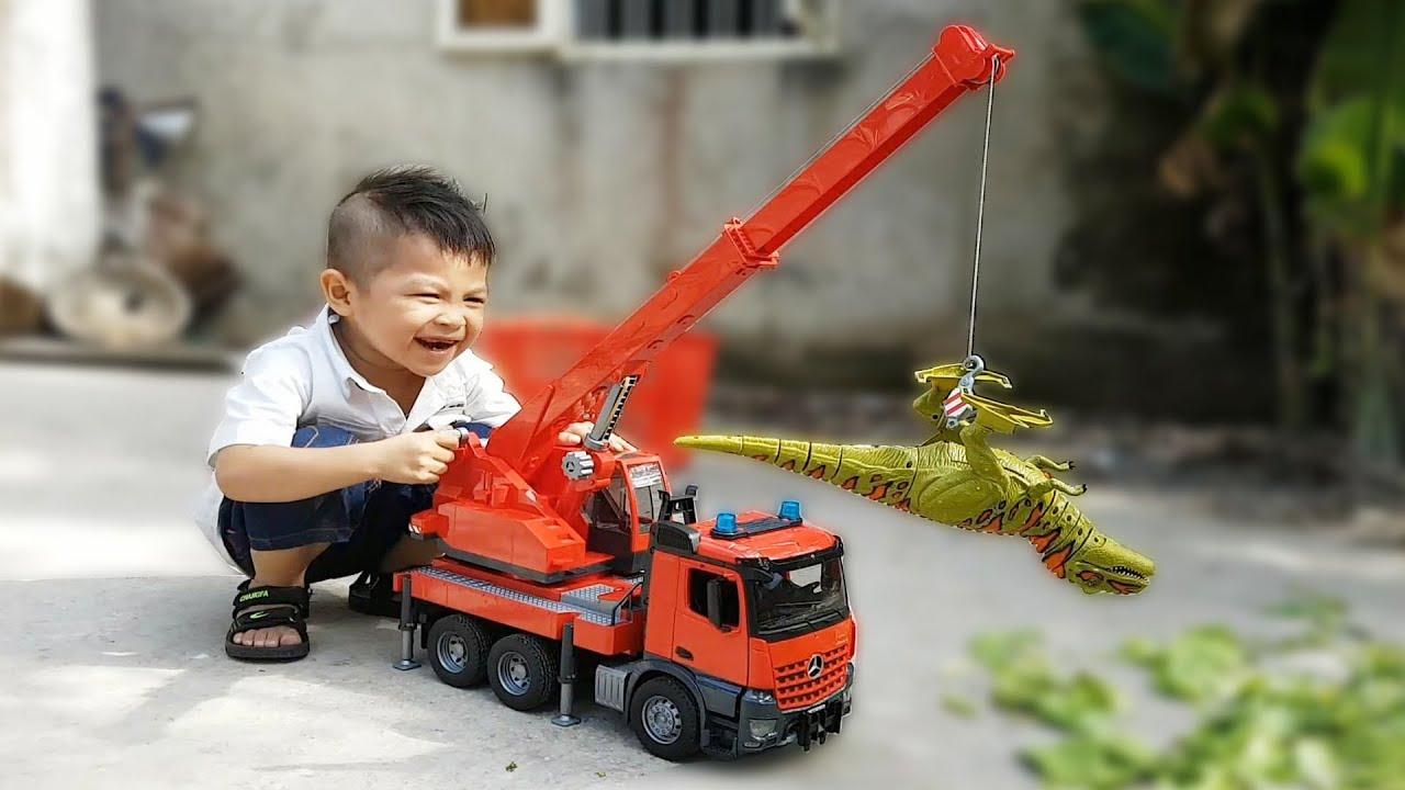 Trò Chơi Xe Cần Cẩu Móc Của Bạn kent ❤ ChiChi ToysReview TV ❤ Đồ Chơi Trẻ Em Nhạc Thiếu Nhi Cho Bé