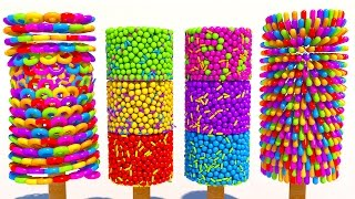 Learning Colors with 3D Popsicle for Kids and Children