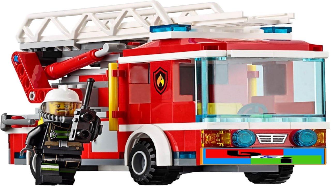 desenho animado lego city infantil caminhão de bombeiro bombeiros