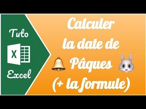 🐰 Comment Calculer La Date De Pâques Sur Excel ( + La Formule à Recopier)