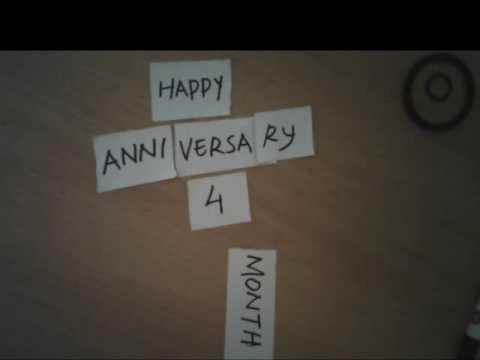 Happy Anniversary 4 Month Youtube