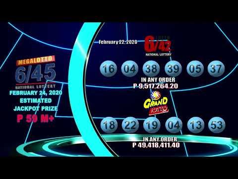 [LIVE] PCSO 9:00 PM Lotto Draw - February 22, 2020