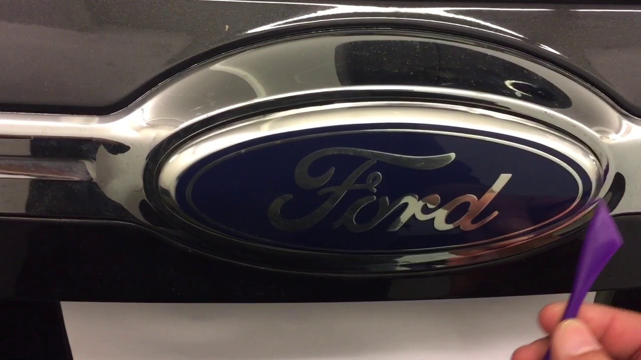 Ford Edge Rear Emblem Removal