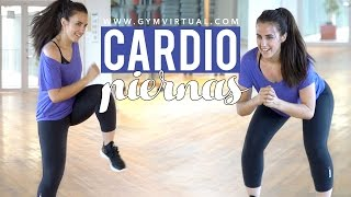 Cardio intenso con ejercicios de piernas | 15 minutos
