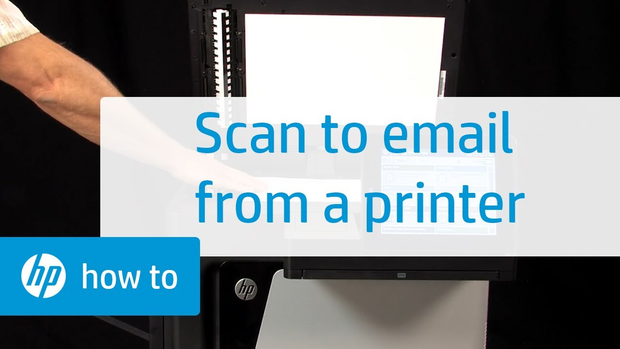 How To Scan To Email From Your Printer Youtube